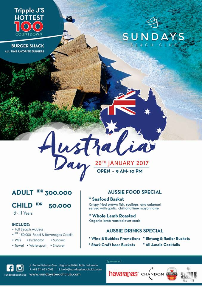 Sundays Aus Day 2017