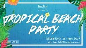 bamboo tropical beach party