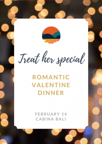 Romantic Valentine Dinner at Cabina Bali