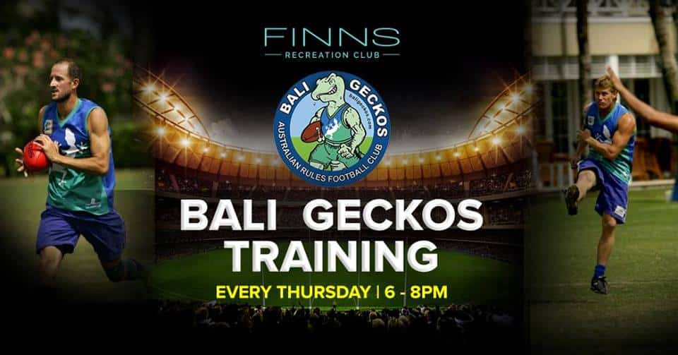 Finns Bali - Geckos training