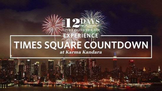 Raise the roof with a gala dinner followed by midnight revelling at Karma Kandara.