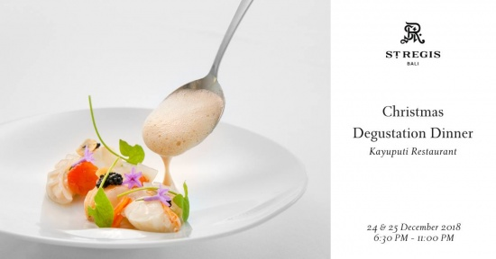 The feast that never ends puts the bubbles in your Christmas at St Regis.