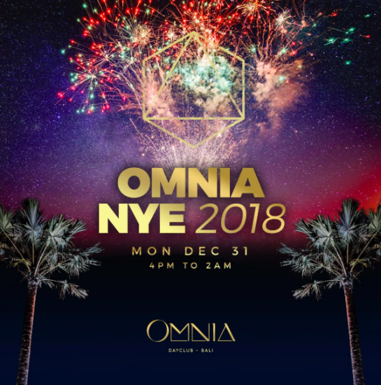 Celebrate on the edge of infinity, enjoy the last sunset of 2018 and party till the small hours at Omnia.
