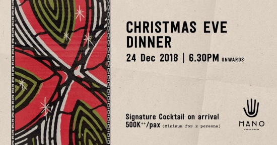 Celebrate Christmas by the sea at Mano Beach House.