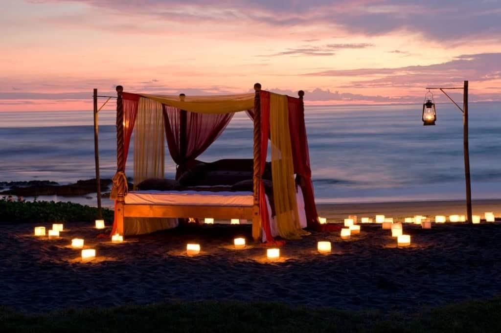 Sunset at the beach Tugu Hotel