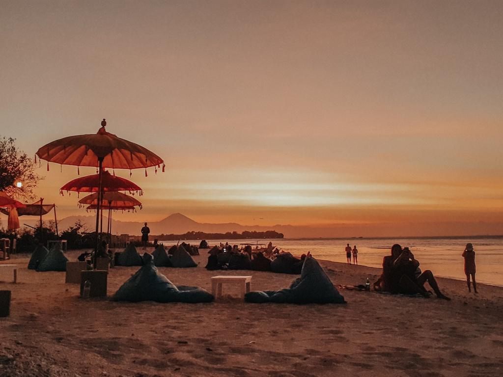 Evening at Gili Meno beach