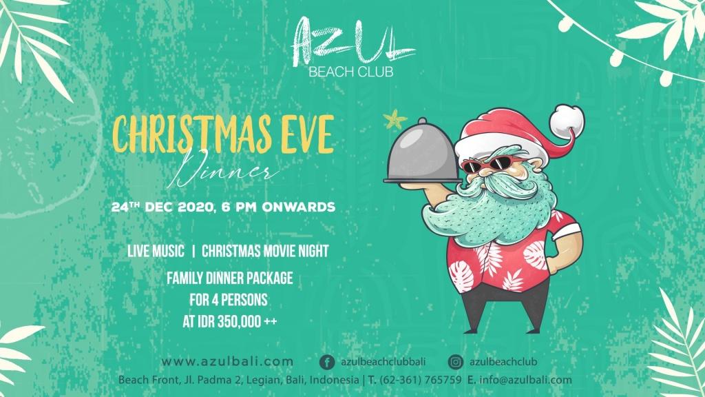 Azul Beach Club Christmas Eve 2020